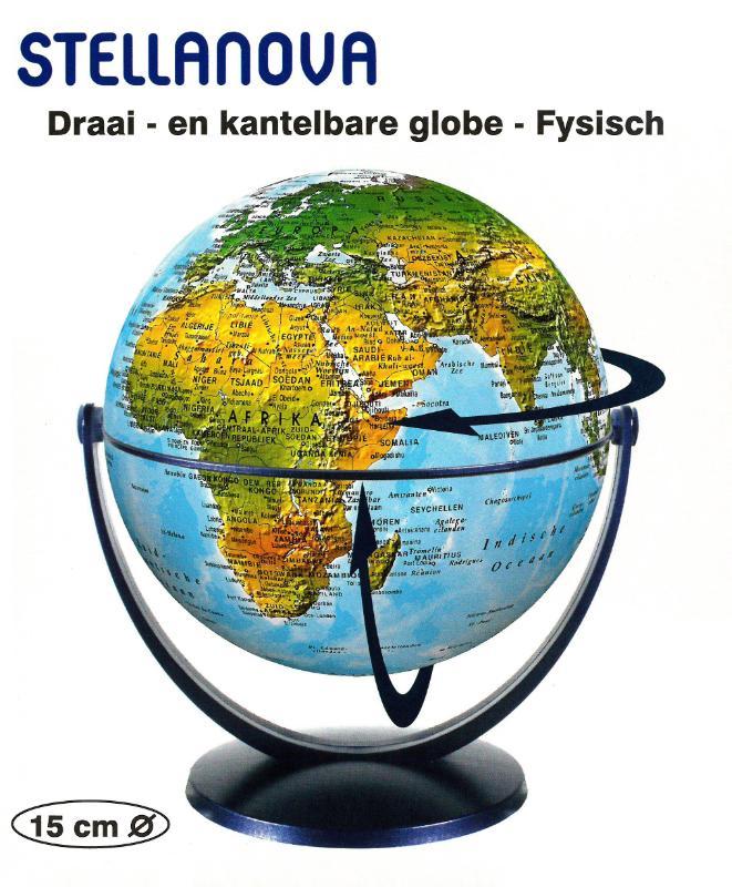 ,Globe 15 cm fys. draai & kantel