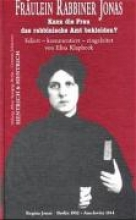 Klapheck, Elisa Frulein Rabbiner Jonas