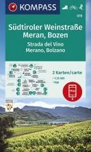 , Südtiroler Weinstraße, Meran, Bozen 1:25 000