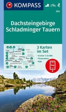 KOMPASS-Karten GmbH , KOMPASS Wanderkarte Dachsteingebirge, Schladminger Tauern 1:25 000
