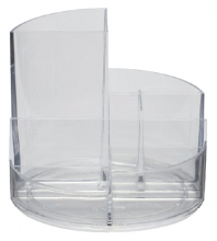 , Pennenkoker MAUL roundbox 6 vakken transparant