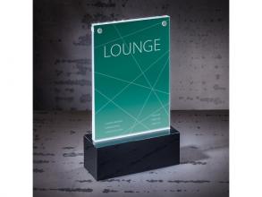 , Tafelstandaard Sigel LED verlicht A6 116x195x45