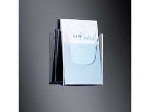 , folderhouder Sigel wandmodel A4 transparant acryl 1 vak