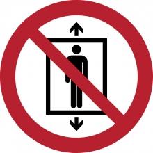 , Pictogram Tarifold verboden lift te gebruiken door personen ø200mm