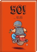 Leeftijden cadeauboekjes Mijlpalen ... 50! Relax! - set 4 ex