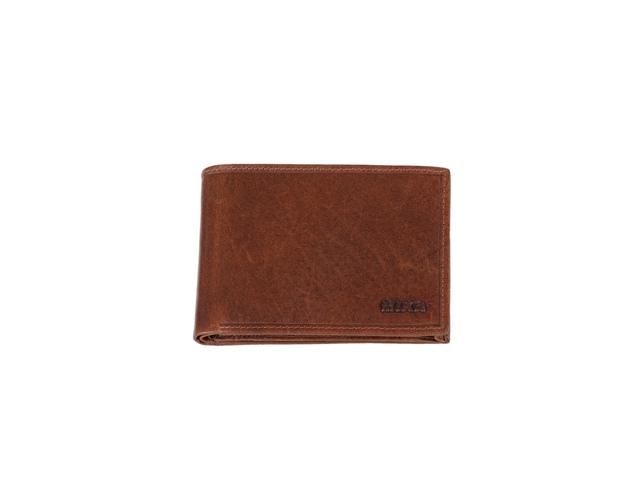 ,Portefeuille Mika bruin RFID. Leer. 12x9,5x2,5cm
