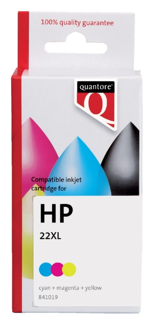 ,Inktcartridge Quantore HP C9352AE 22XL kleur