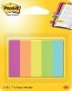 ,Indextabs 3M Post-it 670 Capetown 12.7x44.4mm papier 5 kleuren