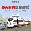 Fernandez, Miguel,Bahnsinn! Der Pendlerkalender 2016 Postkartenkalender