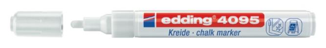 ,Viltstift edding 4095 window schuin wit 2-3mm