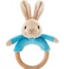 ,Peter Rabbit rammelaar/bijtring 18cm blauw/roze (12x in display)