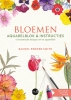 <b>Rachel  Pedder-Smith</b>,Bloemen aquarelblok &amp; instructies