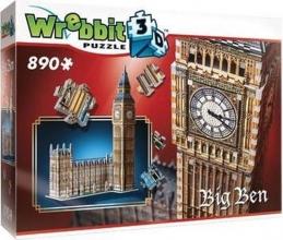W3d-2002 , Puzzel 3d wrebbit big ben  890 stukjes