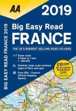 AA Big Easy Read Atlas France 2019