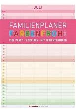 ALPHA EDITION Familienplaner Farbenfroh 2017 - Bildkalender