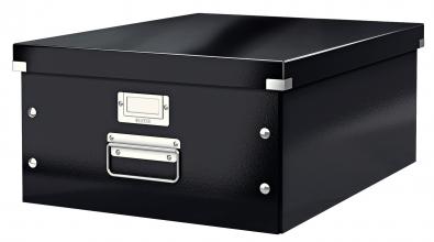 , Opbergbox Leitz WOW Click & Store 369x200x482mm zwart