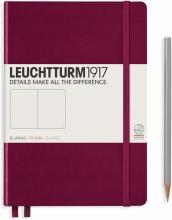 Lt359697 , Leuchtturm notitieboek medium 145x210 blanco port red wijnrood