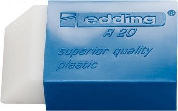 , Gum edding R20 45x24x10mm kunststof wit met blauwe houder