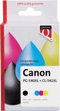 , Inktcartridge Quantore Canon PG-540XL CL-541XL zwart kleur HC