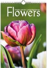, Verjaardagkalender flowers a4