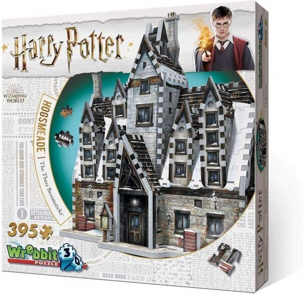 W3d-1012,Puzzel 3d hogsmeade the three boomsticks -harry potter- 395 stuks