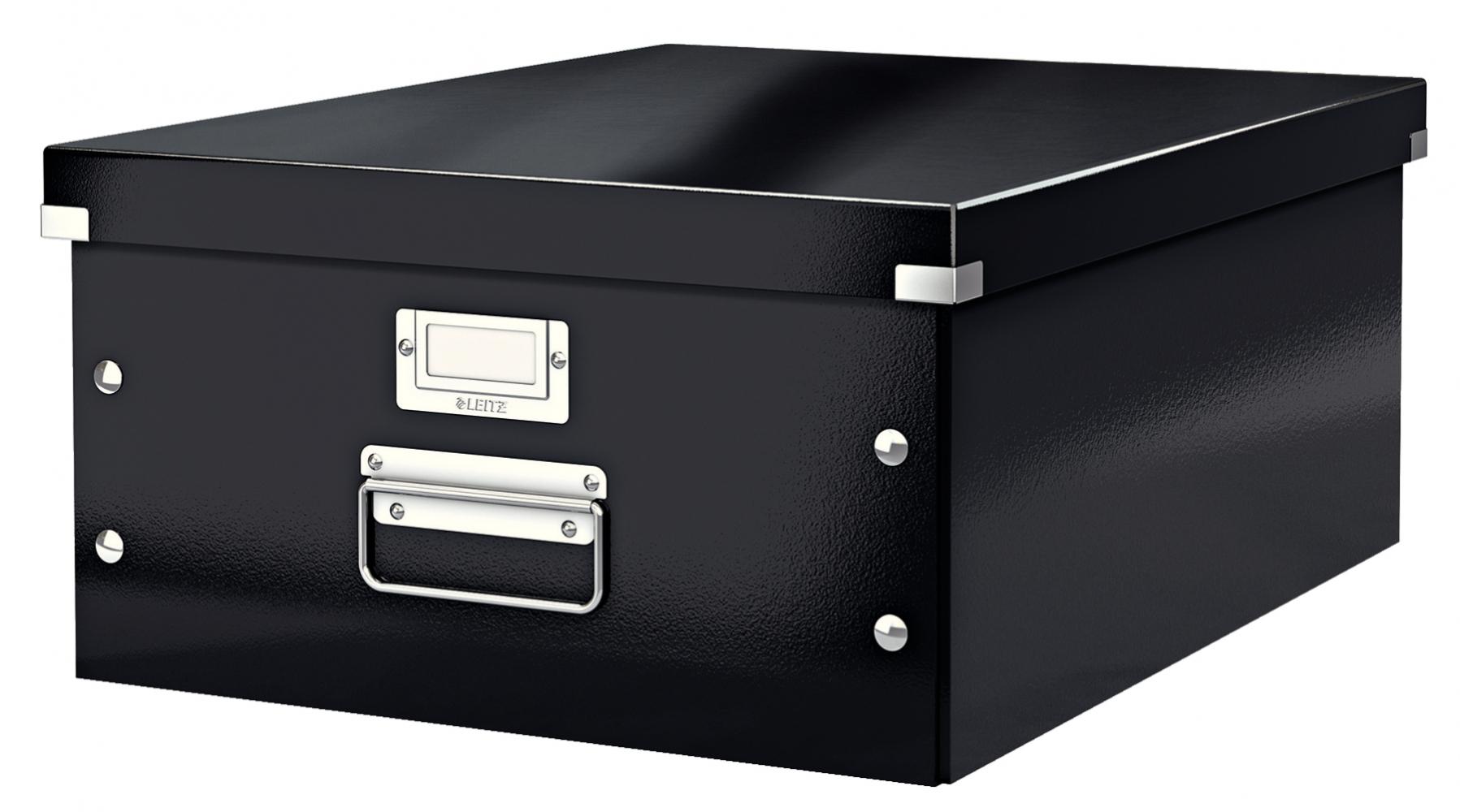 ,Opbergbox Leitz WOW Click & Store 350x188x450mm zwart