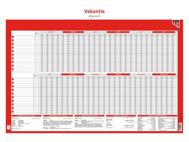 ,Jaarplankalender 2022 Quantore 48x68cm