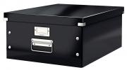 ,<b>Opbergbox Leitz WOW Click & Store 350x188x450mm zwart</b>