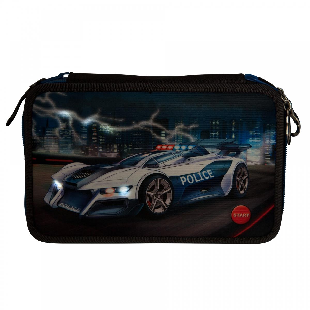 ,Monster cars 3-vaks etui, ge vuld met led