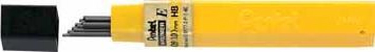 ,Potloodstift Pentel 0.9mm zwart per koker HB