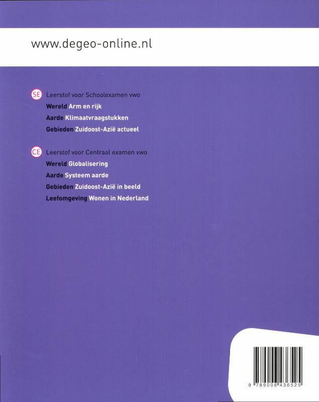 I.G. Hendriks,De Geo Gebieden Zuidoost-Azie in beeld Studieboek vwo