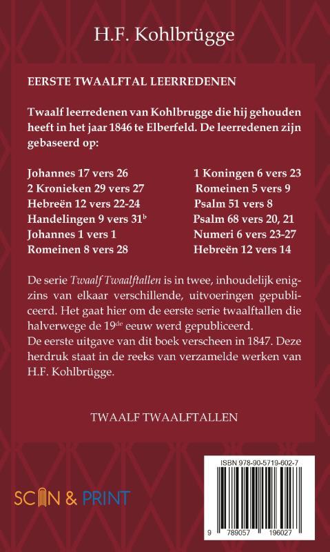 H.F. Kohlbrügge,Twaalftal Leerredenen I - 1