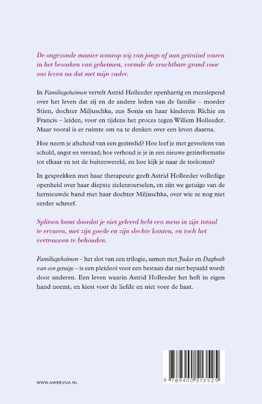 Astrid Holleeder,Familiegeheimen