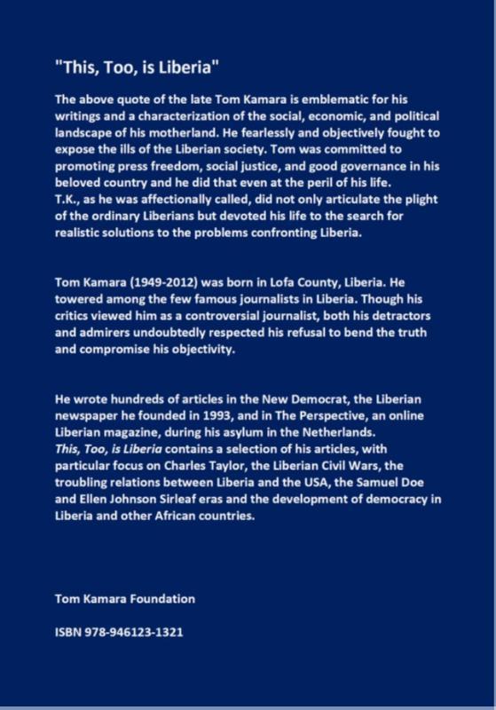 Tom Kamara,This, Too, is Liberia