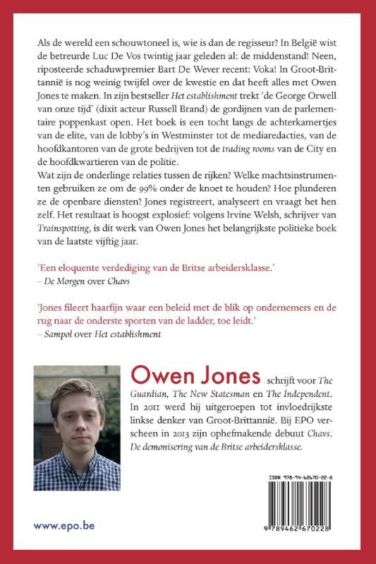 Owen Jones,Het establishment