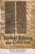 Kelemen, Erick Textual Editing and Criticism - An Introduction