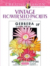 Noble, Marty Creative Haven Vintage Flower Seed Packets Coloring Book