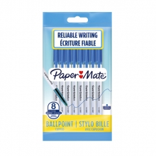 , Balpen Paper Mate Entry line 045 1.0mm blauw zakje à 8 stuks
