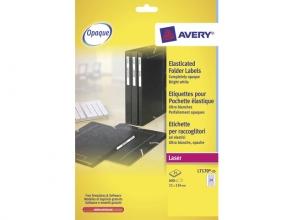 , elastomapetiket Avery 134x11mm wit 25 vel 24 etiketten per  vel