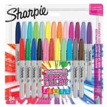 , Viltstift Sharpie Colour Burst rond 0.9mm blister à 24 kleuren