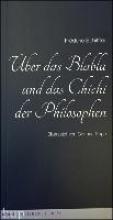Schiffter, Frédéric Über das Blabla und das Chichi der Philosophen