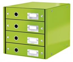 , Ladenbox Leitz WOW Click & Store 4 laden groen