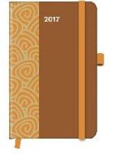 Cool Diary PATTERN Saddle Brown 2017 9x14