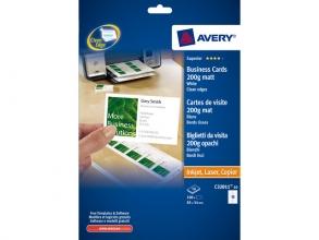 , Visitekaart Avery C32011-10 85x54mm 200gr 100 stuks