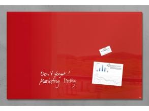 , glasmagneetbord Sigel Artverum 1000x650x15mm rood