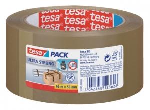 , Verpakkingstape Tesa 50mmx66m bruin ultra sterk PVC
