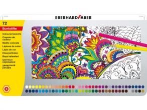 , Kleurpotloden Eberhard Faber metaaletui 72 stuks