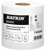 , Handdoekrol Katrin 74526 Centerfeed M2 2laags 19cmx135m