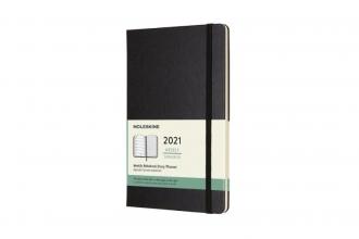 , Moleskine 12 MND Agenda - 2021 - Wekelijks - Large (13x21 cm) - Zwart - Harde Kaft