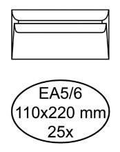 , Envelop Quantore bank EA5/6 110x220mm zelfklevend wit 25stuk